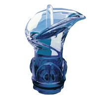Blue crystal Calla 11,2cm - 4,4in Decorative flameshade for lamps