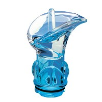Sky blue crystal Calla 11,2cm - 4,4in Decorative flameshade for lamps
