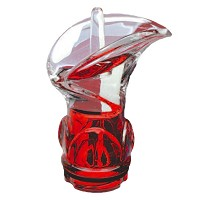 Red crystal Calla 11,2cm - 4,4in Decorative flameshade for lamps