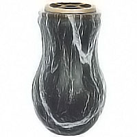 Flowers vase 20cm-8in In Schwarz bronze, plastic or copper inner, wall attached 110231