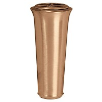 Flowers vase 26cm - 10,3in In bronze, with plastic inner, ground attached 1008-P22