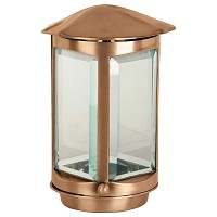 Lamp for candle 23cm - 9in In bronze, a terra 1028-M1