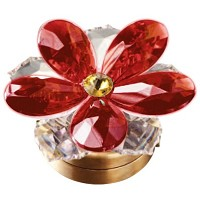 Red crystal water lily 7,4cm - 3in Led lamp or decorative flameshade for lamps and gravestones