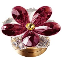 Violet crystal water lily 7,4cm - 3in Led lamp or decorative flameshade for lamps and gravestones