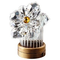 Crystal inclined water lily 8cm - 3in Led lamp or decorative flameshade for lamps and gravestones