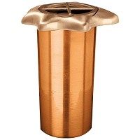 Recessed flowers vase 3cm - 1in In bronze, with copper inner, ground attached 1045-R29
