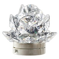 Crystal Desert Rose 10cm - 4in Led lamp or decorative flameshade for lamps and gravestones
