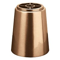 Recessed flowers vase 15cm - 6in In bronze, with plastic inner, ground attached 1050-P4