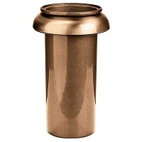 Recessed flowers vase 3cm - 1in In bronze, with copper inner, ground attached 1052-R2