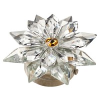 Crystal snowflake 12cm - 4,75in Led lamp or decorative flameshade for lamps and gravestones