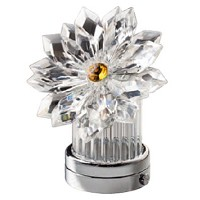 Crystal inclined snowflake 8,5cm - 3,3in Led lamp or decorative flameshade for lamps and gravestones