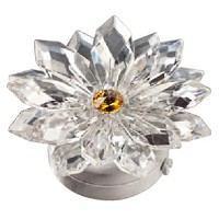 Crystal snowflake 8,5cm - 3,3in Led lamp or decorative flameshade for lamps and gravestones