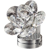 Inclined crystal Desert Rose 11cm - 4,3in Led lamp or decorative flameshade for lamps and gravestones
