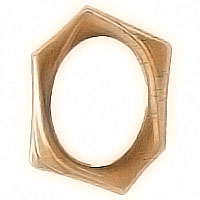 Oval photo frame 9x12cm - 3,5x4,7in In bronze, wall attached 1110