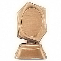 Oval photo frame 9x12cm- 3,5x4,7in In bronze, ground attached 1133