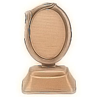 Oval photo frame 9x12cm- 3,5x4,7in In bronze, ground attached 1199