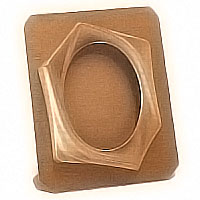 Oval photo frame 9x12cm- 3,5x4,7in In bronze, ground attached 1211