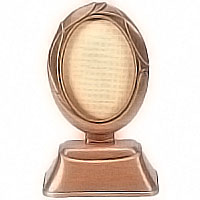 Oval photo frame 9x12cm- 3,5x4,7in In bronze, ground attached 1236