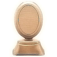 Oval photo frame 9x12cm- 3,5x4,7in In bronze, ground attached 1254