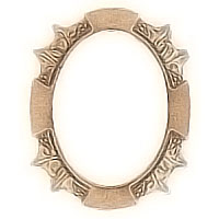 Oval photo frame 8x10cm - 3,1x3.9in In bronze, wall attached 1266