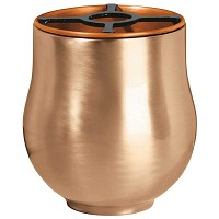 Flowers pot 20cm - 8in In bronze, with copper inner, ground attached 1292-R65