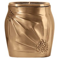 Flowers pot 18x17cm - 7x6,5in In bronze, with brass inner, wall attached 1298-A1