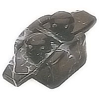 Flask 7,3x3,4cm - 2,8x1,3in Schwarz marbled, with pin for the installation 1721/MS