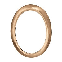 Oval bronze photo frame 11x15cm - 4,3x6in In bronze, wall attached 200-1115
