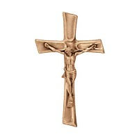 Crucifix with Jesus 15x9cm - 5,9x3,5in In bronze, wall attached 2083-15