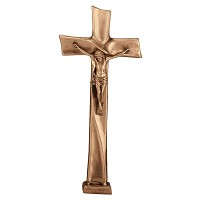 Crucifix with Jesus 68x31cm - 26,75x12in In bronze, ground attached 2090