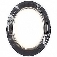 Oval photo frame, in various size In Schwarz bronze, wall attached 210225
