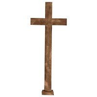 Crucifix 111x44cm - 43,5x17,5in In bronze, ground attached 2125