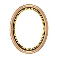 Oval photo frame 11x15cm - 4,3x6in In bronze, wall attached 214-1115
