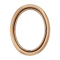 Oval photo frame 11x15cm - 4,3x6in In bronze, wall attached 215-1115