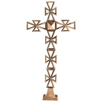 Crucifix 34x17cm - 13,5x6,5in In bronze, ground attached 2185