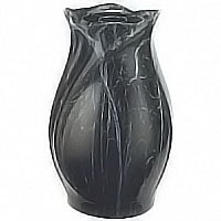 Flowers vase 30cm-11,8in In Schwarz bronze, plastic or copper inner, ground attached 2342