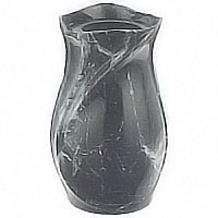 Flowers vase 13cm In Schwarz bronze, wall or ground attached 2345