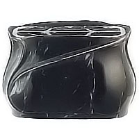 Flowers pot 19cm - 7,80in In Schwarz bronze, steel inner, wall or ground attached 2371