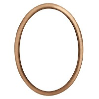 Oval photo frame 8x10cm - 3x4in In bronze, wall attached 238-810