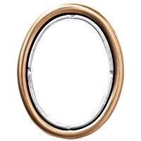 Oval photo frame 11x15cm - 4,3x6in In bronze, wall attached 247-1115