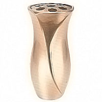 Flowers vase 24cm-9,4in In bronze, with plastic inner, ground attached 2489/P