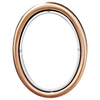 Oval photo frame 11x15cm - 4,3x6in In bronze, wall attached 249-1115