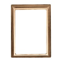 Rectangular photo frame 10x15cm - 4x6in In bronze, wall attached 250-1015