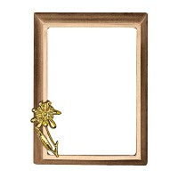 Rectangular photo frame 10x15cm - 4x6in In bronze, wall attached 251-1015