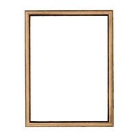 Rectangular photo frame 10x15cm - 4x6in In bronze, wall attached 253-1015