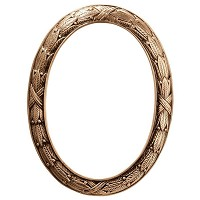 Oval photo frame 10x13cm - 4x5in In bronze, wall attached 256-1013