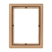 Rectangular photo frame 11x15cm - 4,3x6in In bronze, wall attached 265-1115
