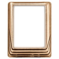 Rectangular photo frame 9x12cm - 3,5x4,75in In bronze, wall attached 270-912