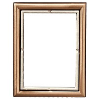 Rectangular photo frame 11x15cm - 4,3x6in In bronze, wall attached 276-1115