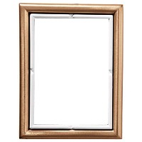 Rectangular photo frame 11x15cm - 4,3x6in In bronze, wall attached 278-1115